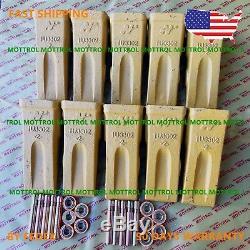 10 PK 1U3302 1U-3302 Bucket Teeth 9J2308 Pins, 8E6259 RETAINER FITS CATERPILLART