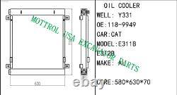 118-9949 189949 OIL COOLER ASSY FITs Caterpillar CAT E312BL e312b E311B S4K 3064