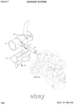 11n6-30080 Muffler Fits Hyundai Excavator, R215lc-7 R215lc7