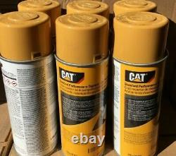 12 PACK CATERPILLAR CAT OEM Yellow Aerosol Spray Paint Cans 458-9587 NEW 1 Case