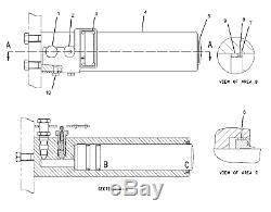 168-6684 1686684 track cylinder fits caterpillar cat 311c 312c 314c