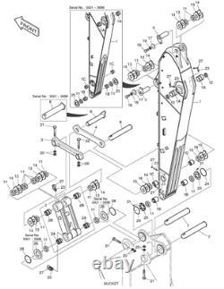 203-70-44380 Bucket Pin Fits Komatsu Pc120-5 Pc120-6
