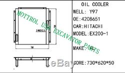 4208651 Oil Cooler, Core Fits Hitachi Ex200-1 Ex200lc 6bd1