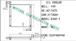 4217470 OIL COOLER FITS HITACHI EX60-1 EX60G, FASTSHIP BY FEDEX express 1-2 days