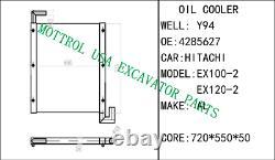 4285627 NEW, OIL COOLER FITS HITACHI EX100-2 EX120-2 EX100-3 EX120-3 in stock