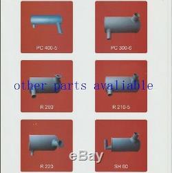 4332247 MUFFLER, with u bolt 2 pk, clamp fit EX200-5 EX200LC-5 ISUZU 6BG1 ENGINE