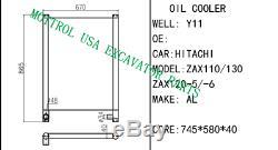 4448373 Oil Cooler Fits Hitachi Zax130 Zax135 Zax120 Zax110 Fedex Ground 1-5 Day