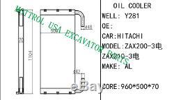 4650353 OIL COOLER FITS HITACHI ZAX220-3 ZX200-3 zax225-3 zax210-3 4hk1 zax240-3