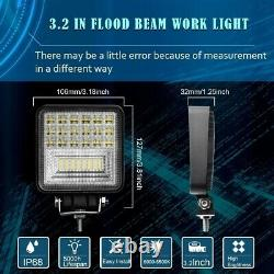 4pcs 252W Car LED Work Light Head Lamp For Caterpillar Excavators 303.5E2CR 30