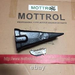 5 SET X330 Bucket Teeth With K330S Spring Flex Pin Skid Steer Backhoe Hensley
