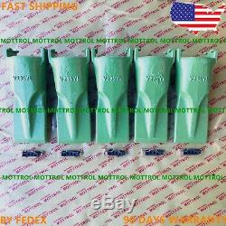 5-pk FITS ESCO V23SYL Super-V Style Bucket Digging Teeth With 23 PN Flex Pins