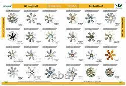 6bd1 Fan Blade Fits Hitachi Ex200-3 Ex200-2, Sumitomo Sh200 1-13660-140-0
