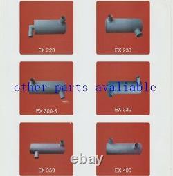 6d34 Tube, Pipe Exhaust Muffler Fit Kobelco Sk200-6 Sk200-6e Sk230-6 Yn12p01076p1