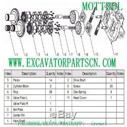 A8vo107 Hydraulic Pump Shaft Fits Caterpillar Cat 320b 320bl 087-4781 0874781
