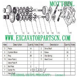 A8vo160 Pump Parts Fits Caterpillar E330b 330b L Cyl Block, Piston, Set, Valve