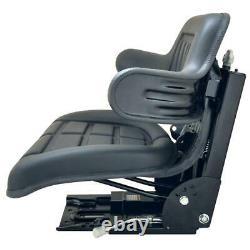 Black Waffle Style Suspension Seat Fits Massey Ferguson 283 290 294 Tractor