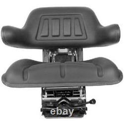 Black Waffle Style Suspension Seat for International Harvester 784 785 885