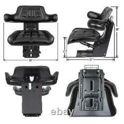 Black Waffle Style Tractor Suspension Seat Fits John Deere 1120 1130 1140 Fits J