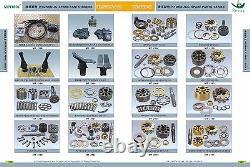 Cx210 pump parts, cylinder block, valve plate f, set plate, shoe plate, piston