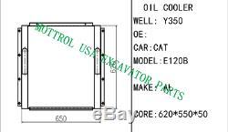 E120B E110B OIL COOLER FITS cat D320-00725 994702 5i4727 S4KT by fedex express