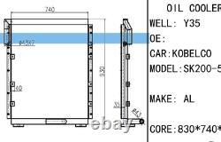 Hydraulic Oil Cooler for Kobelco SK200-5 Excavator YN05P00010S002