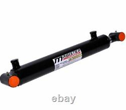 NEW Hydraulic Cylinder Welded Double Acting 2.5 Bore 16 Stroke Cross Tube