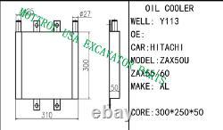 OIL COOLER FITS HITACHI zax50 ex35u ex27u ex36u ex29u zax29 zax36 zax35 ZAX55