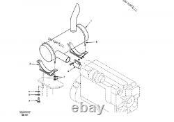 SA1114-00101, SA111400101 MUFFLER silencer AS FITS FOR SAMSUNG SE240LC-3