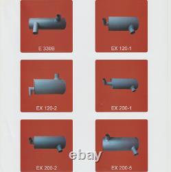 Zax250 Zaxis230 Zx240 Zax225 Muffler As Fits Hitachi Excavator 6bg1 4416602